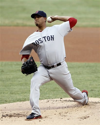 Doubront pitches Red Sox past reeling Marlins 10-2
