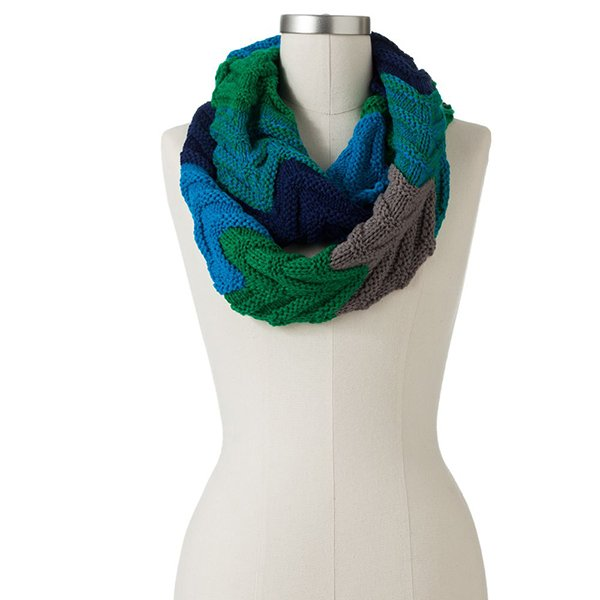 SO zigzag infinity scarf in blue combo, $18.99 at Kohls.com