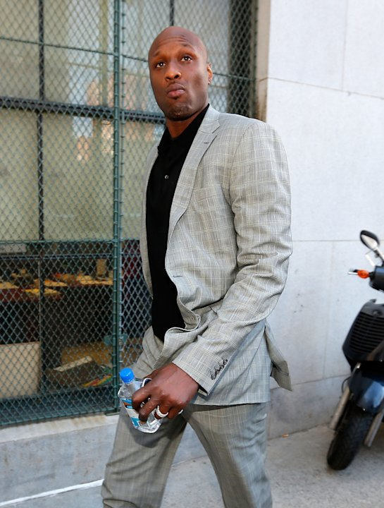 Lamar Odom Attends Custody Hearing