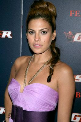 Eva Mendes at the New York premiere of Columbia Pictures' Ghost Rider