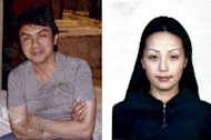 An undated passport photograph of Mongolian woman Altantuya Shaariibuu (R) is seen beside an undated picture of Malaysian political analyst Abdul Razak Baginda (L). A scandal linking Malaysia's leader, a young woman's murder and alleged kickbacks in a French submarine deal has resurfaced as a potential danger for the government as elections loom