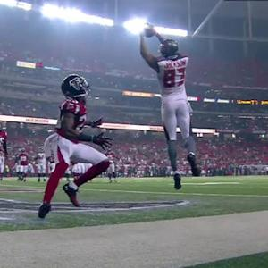 Tampa Bay Buccaneers wide receiver Vincent Jackson 3-yard touchdown from Mike Glennon
