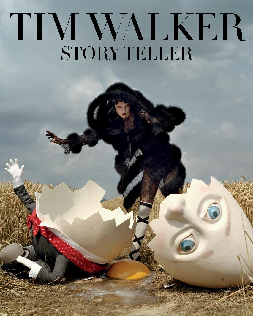 "This book cover image released by Abrams Books shows ""Tim Walker: Story Teller."" The book features photographs of fashion blended with fairy tales. Walker includes personal observations and full-page, color-saturated shoots.   (AP Photo/Abrams Books)"