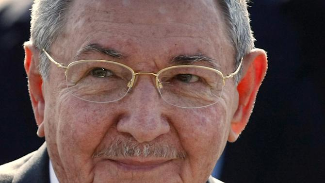 "FILE - In this Jan. 25, 2013 file photo, Cuba's President Raul Castro smiles after arriving at the Arturo Merino Benitez International Airport in Santiago, Chile. The Cuban leader raised the possibility of leaving his post, during an appearance Friday, Feb. 22, 2013, with Russian President Dmitri Medvedev. Castrol told reporters he's about to turn 82 years old and added, ""I have the right to retire, don't you think?""(AP Photo/Luis Hidalgo, File)"