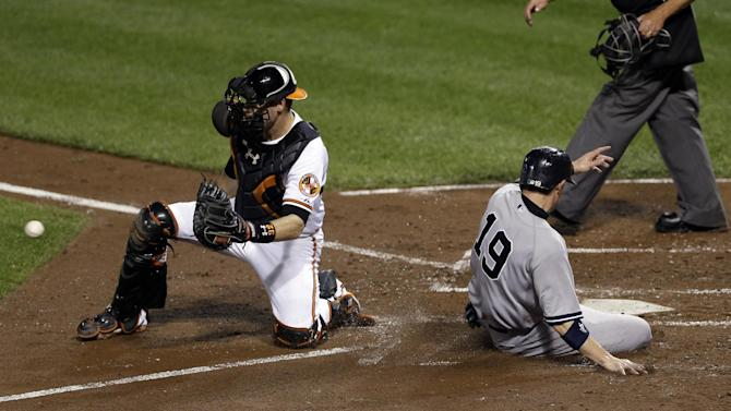 Soriano hits 2 HRs as Yankees beat Orioles 7-5