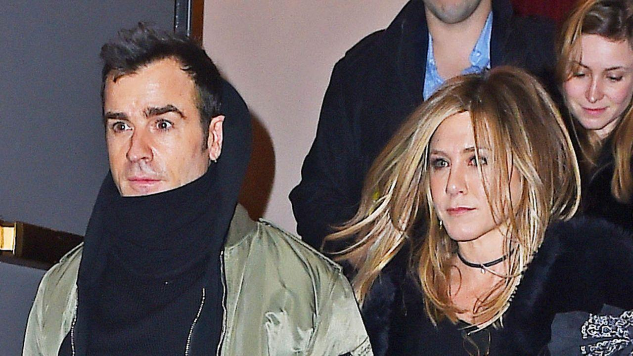 Jennifer Aniston Sports a Sexy Mini Skirt During Birthday Date With Justin Theroux