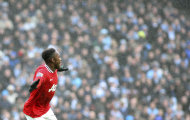 Manchester United's Danny Welbeck, celebrates his goal during their FA Cup third round soccer match against Manchester City at the Etihad stadium, Manchester, England, Sunday, Jan. 8, 2012. (AP Photo/Scott Heppell)