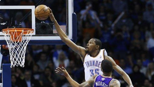 Thunder romp to 3rd straight blowout, 127-96