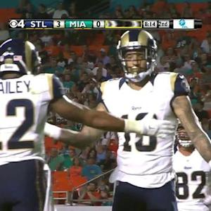 St. Louis Rams quarterback Austin Davis to wide receiver Austin Pettis for an 11-yard TD
