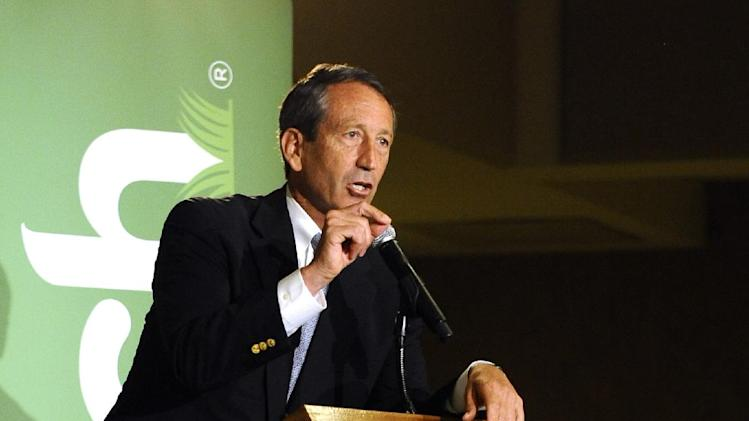 Former South Carolina Gov. Mark Sanford speaks during the 1st Congressional District debate on Monday, April 29, 2013 in Charleston S.C. (AP Photo/Rainier Ehrhardt)