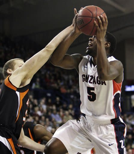 No. 14 Gonzaga beats Campbell 74-52