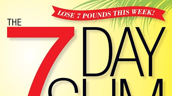 """This undated publicity photo provided by Rodale Books shows the cover of the diet cookbook """"The 7 Day Slim Down,"""" by Alisa Bowman and the editors of Women's Health magazine. (AP Photo/Rodale Books)"""