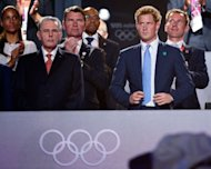 The British prince attends the Olympics closing ceremony on August 12. What happens in Vegas famously should stay in Vegas -- and Sin City lashed out Friday at those who it says betrayed Prince Harry by leaking pictures of him partying naked