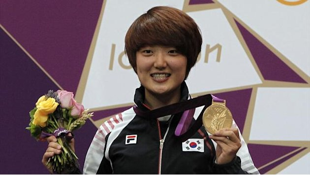 Jang-mi wins second Olympic shooting gold for Korea