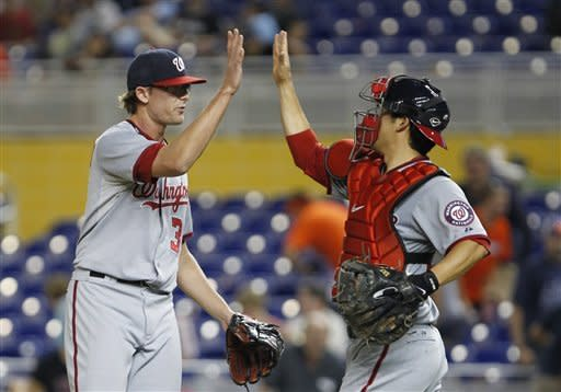 Harper's homers leads Nationals past Marlins 8-4