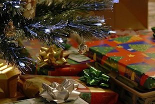 presents christmas tree