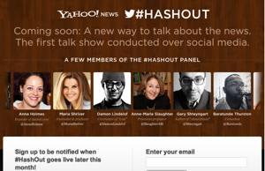 Yahoo to Launch '#HashOut' …