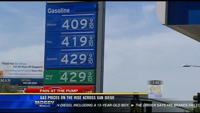 Gas prices on the rise across San Diego