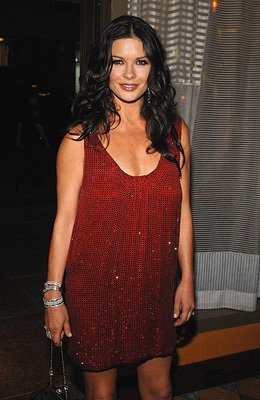 Catherine Zeta-Jones at the New York premiere of Warner Brothers' No Reservations