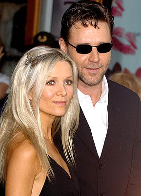 Danielle Spencer and Russell Crowe at the LA premiere of Universal's Cinderella Man