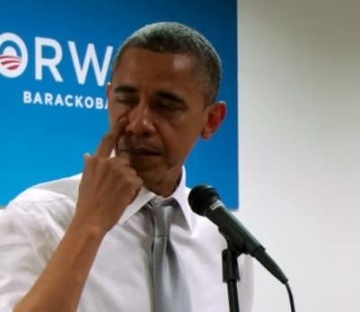 Obama Tears Up While Talking to Campaign Workers (Video)