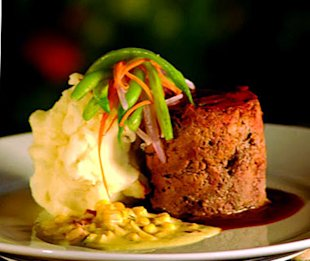 The Blacksmith's signature Meatloaf dish in Bend, OR.