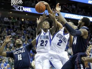 Theodore leads Seton Hall over No. 8 UConn 75-63