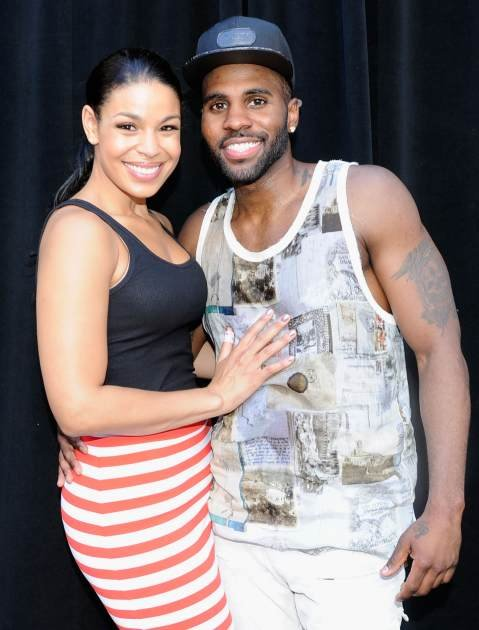 Jordin Sparks and Jason Derulo attend 106 & Park Live presented by Target during the 2013 BET Exeperience at L.A. LIVE on June 28, 2013 in Los Angeles -- Getty Images