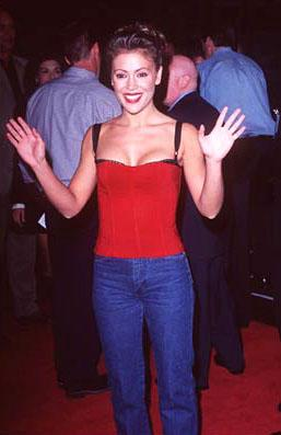 Premiere: Alyssa Milano at the Hollywood premiere of New Line's Boogie Nights - 10/15/1997