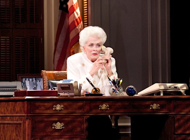 "This theater image released by The Hartman Group shows Holland Taylor as former Texas Gov. Ann Richards during a performance of ""Ann."" (AP Photo/The Hartman Group)"