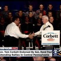 Gov. Corbett Gets Endorsement From KY Gov. Rand Paul