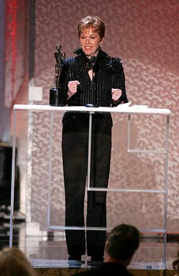 "Elaine Cancilla, the wife of the late Jerry Orbach of ""Law & Order,"" accepts the Outstanding Actor in a Drama Series award on his behalf Screen Actors Guild Awards - 2/5/2005"