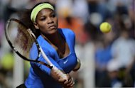 Serena Williams, pictured on May 17, solidified her return to the top-five ranking on Friday as the American ninth seed advanced to the semi-finals of the Rome Masters when opponent Flavia Pennetta withdrew with a right wrist injury