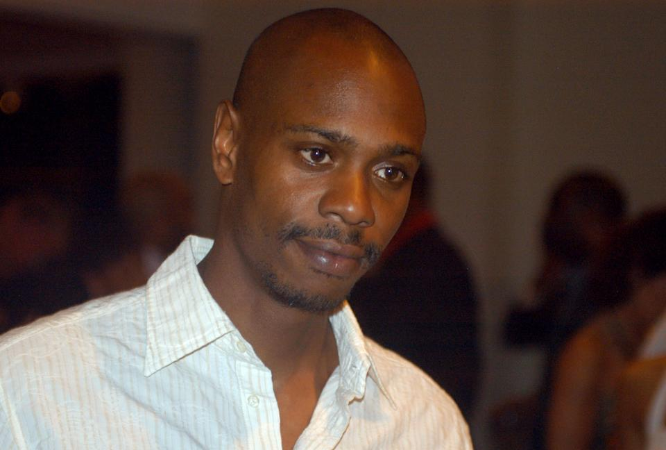 Inb a May 5, 2006 file photo comedian Dave Chappelle attends a reception at the Muhammad Ali Center in Louisville, Ky. Chappelle decided to sit out most of his show in Hartford Thursday, Aiug. 29, 2013, because of a noisy audience. (AP Photo/Brian Bohannon, file)