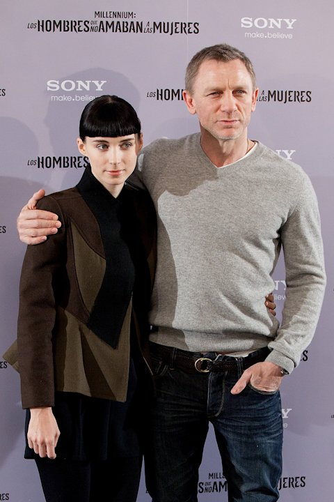 The Girl with the Dragon Tattoo 2012 Madrid Premiere