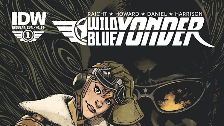 "This comic book cover released by Noble Transmission/IDW Publishing shows an image from the five-issue mini-series ""Wild Blue Yonder,"" from Mike Raicht, Zach Howard and Austin Harrison of Noble Transmission.  The series centers on Cola, a skilled upstart, female teen pilot whose adventures form the tale set in a world where humanity lives among the clouds in floating airships while avoiding the broken, poisoned earth. Issue No. 1 was released on Wednesday, June 19. (AP Photo/Noble Transmission/IDW Publishing)"