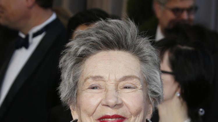 Actress Emmanuelle Riva arrives at the Oscars at the Dolby Theatre on Sunday Feb. 24, 2013, in Los Angeles. (Photo by Todd Williamson/Invision/AP)