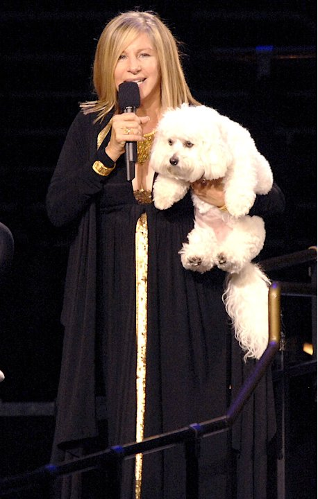 Barbra Streisand and dog Sammie