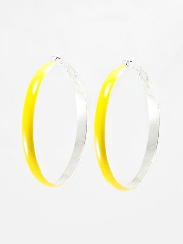 T+J Designs Yellow Enamel Hoops