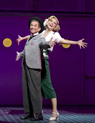 "FILE - In this file theater publicity image provided by Boneau/Bryan-Brown, Joel Grey, left, and Sutton Foster are shown during a performance of ""Anything Goes,"" in New York. ""Anything Goes"" was the No. 3 show in 2011. (AP Photo/Boneau/Bryan-Brown, Joan Marcus, File)"