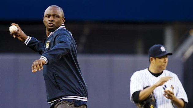 Patrick Vieira is a guest at New York Yankees ahead of their agreement with Manchester City to create a new MLS side