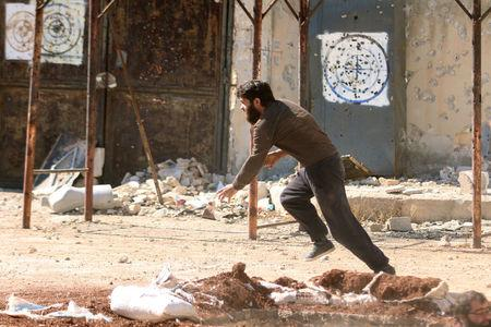 Syrian rebels bombard Aleppo air base before offensive: monitoring group