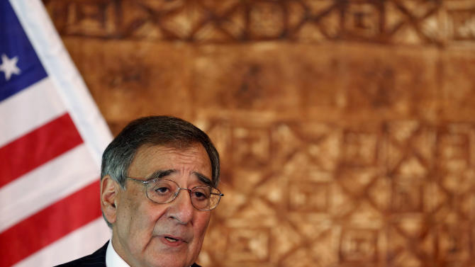 U.S. Secretary of Defense Leon Panetta speaks during a joint news conference with his New Zealand counterpart Jonathan Coleman at the Government House in Auckland, New Zealand, Friday, Sept. 21, 2012. After a 25-year ban, America will begin allowing Royal New Zealand Navy ships to visit U.S. military and Coast Guard facilities around the world, Panetta said. (AP Photo/Larry Downing, Pool)