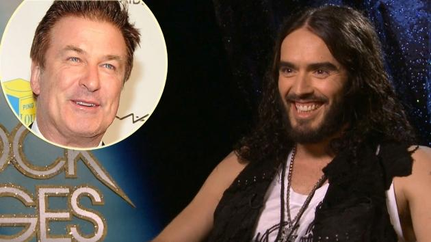 Russell Brand, inset: Alec Baldwin -- Access Hollywood / Getty Images