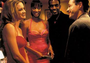 Bridgette Wilson , Tyra Banks , Bill Bellamy and French Stewart in Love Stinks