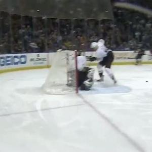 Matt Moulson sets up Cody Hodgson to score