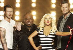 Adam Levine, CeeLo Green, Christina Aguilera, Blake Shelton | Photo Credits: Mark Seliger/NBC