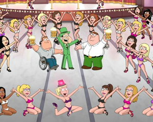 Exclusive (and NSFW) Family Guy Video: Quagmire Mounts Canadian Strip Joint Musical