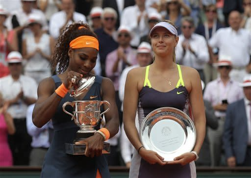 Williams beats Sharapova for 2nd French Open title
