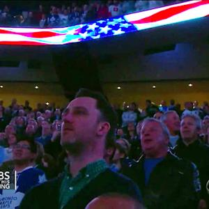 Watch: Canadians help save U.S. national anthem after mic cuts out